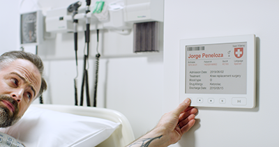 Eink bed card healthcare
